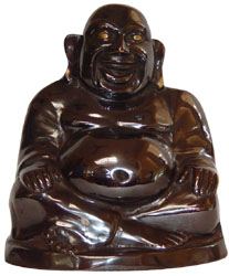 SOLID BRASS LAUGHING BUDDHA